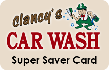 Super saver card for Clancy's Car Wash